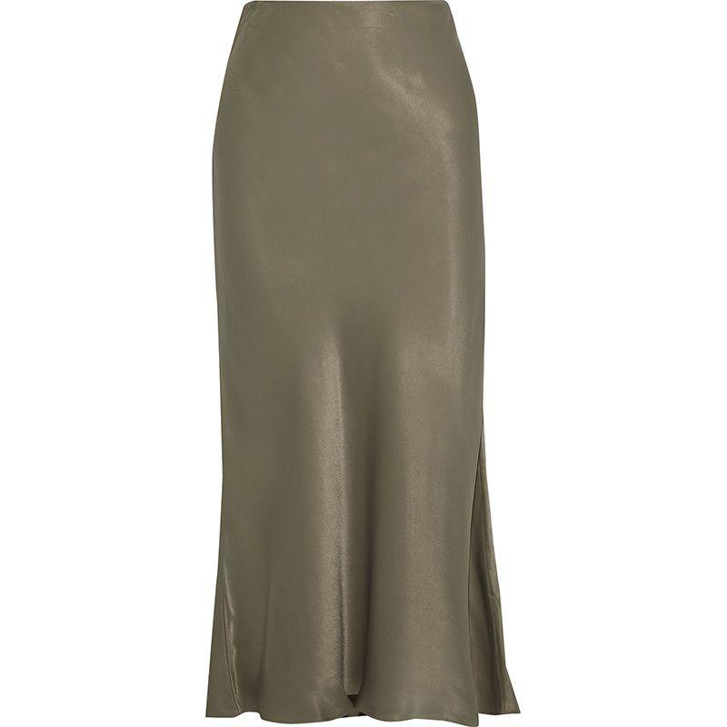 Brooklyn Satin Midi Skirt