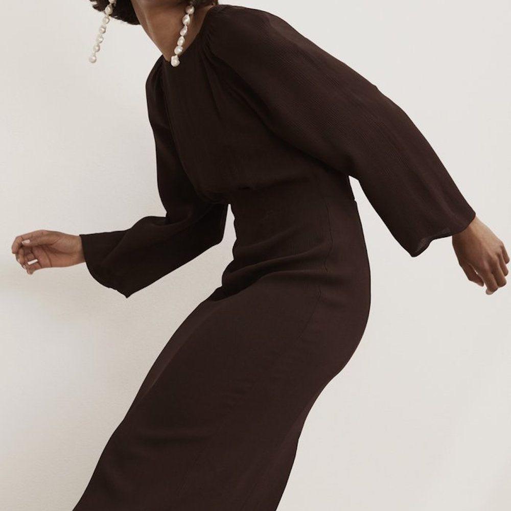 Tove Hollie Silk Dress Chocolate