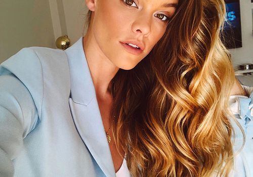 Nina Agdal Caramel Hair Color