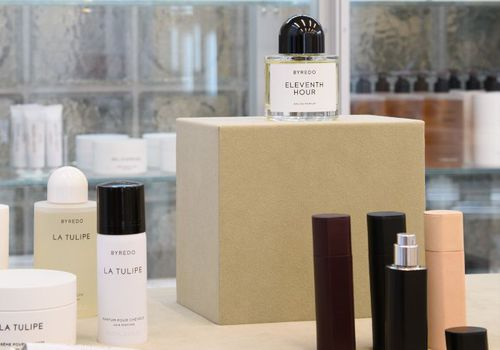 Perfumes on display inside the Byredo London flagship store