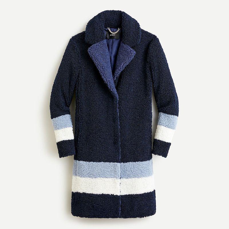 Petite Teddy Sherpa Topcoat