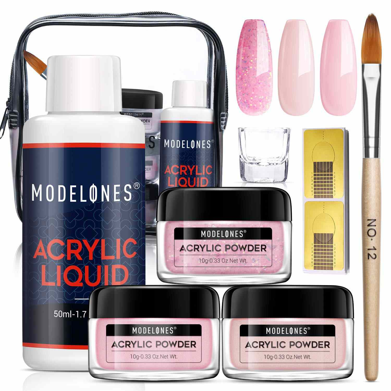 Modelones Pink Acrylic Powder Kit