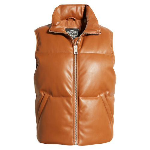 Levi's 507 Quilted Faux Leather Puffer Vest
