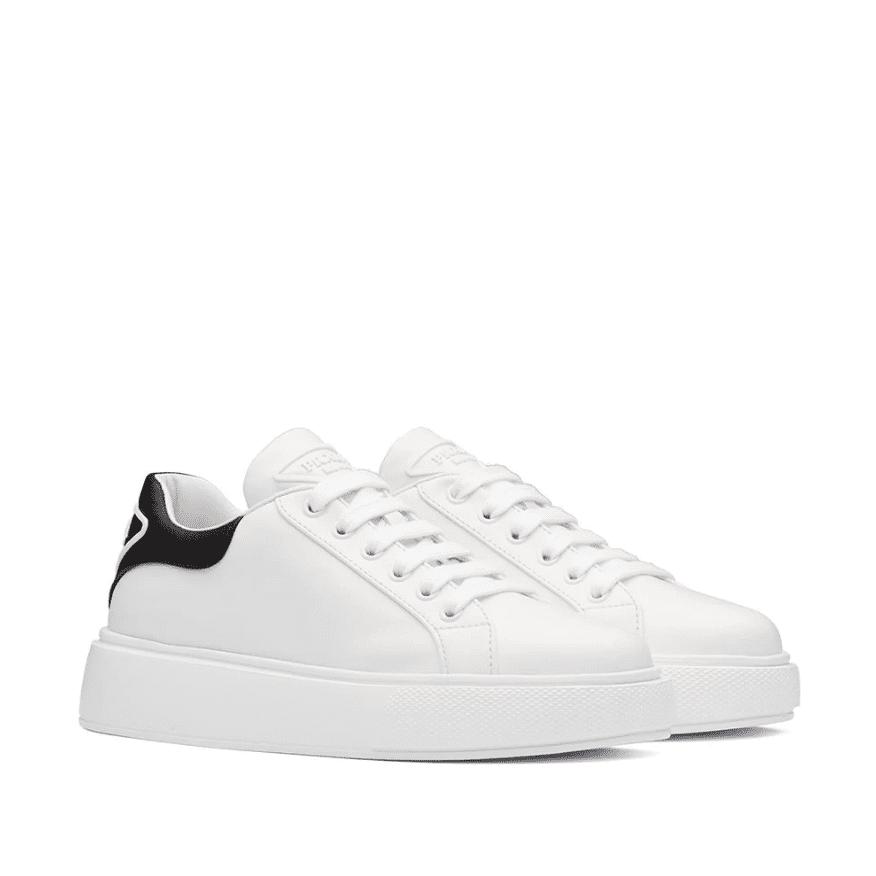 Prada Contrast-Heel Low-Top Sneakers