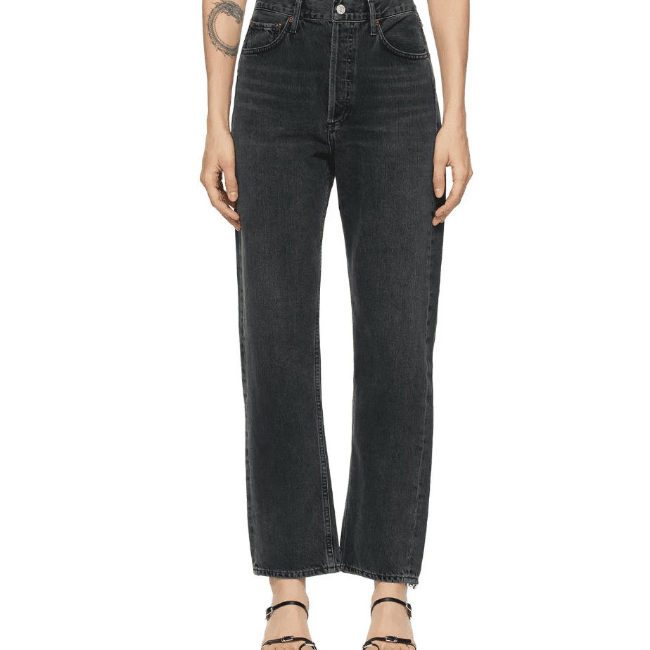 Agolde Grey '90s Mid-Rise Loose Fit Jeans